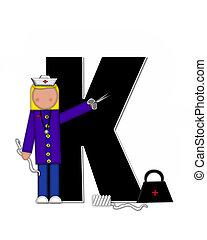 Alphabet Children Nursing Career K