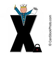 Alphabet Children Nursing Career X