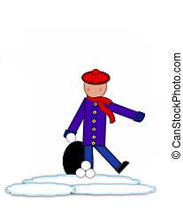 Alphabet Children Snow Fight Period - Period, in the...