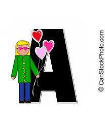 Alphabet Children Valentines A