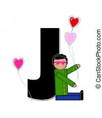 Alphabet Children Valentines J