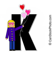 Alphabet Children Valentines K