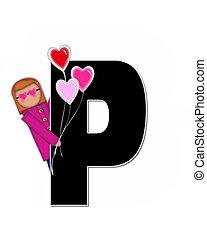 Alphabet Children Valentines P