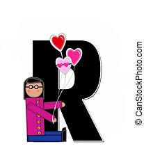 Alphabet Children Valentines R