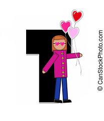 Alphabet Children Valentines T