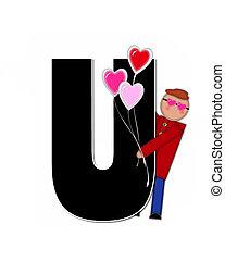Alphabet Children Valentines U