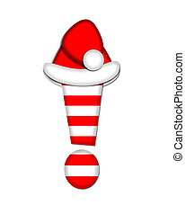 Alphabet Christmas Candy Cane Exclamation - Exclamation...