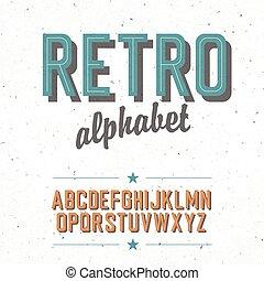 alphabet., cinema, denominado, fundo, vetorial, textured, antigas, ep