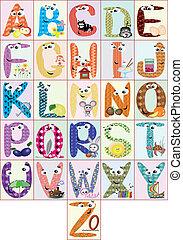 alphabet, cmyk