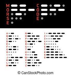 alphabet, code, morse