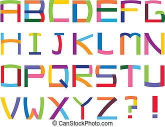 alphabet, coloré