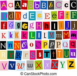 Alphabet - colorful alphabet