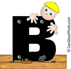 Alphabet Construction Worker B