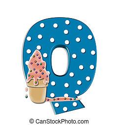 Alphabet Creamy Treat Q