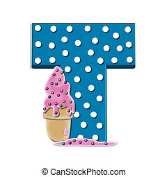 Alphabet Creamy Treat T
