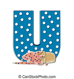 Alphabet Creamy Treat U