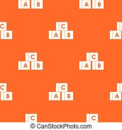 Alphabet cubes with letters A,B,C pattern seamless