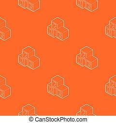 Alphabet cubes with letters A,B,C pattern vector orange