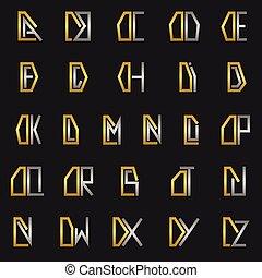 alphabet, d, lettre