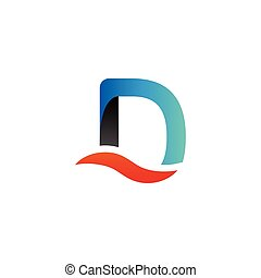 Alphabet d logo graphic template vector