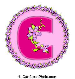 Alphabet Daisy Chain C - The letter C, in the alphabet set...