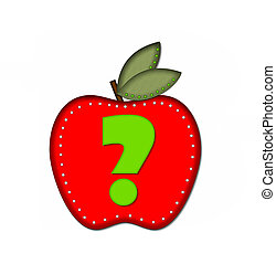 Alphabet Delicious Apple Question - Question Mark, in the...