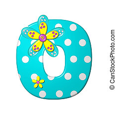 Alphabet Dotted Dania O - The letter O, in the alphabet set...