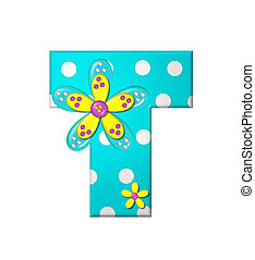 Alphabet Dotted Dania T - The letter T, in the alphabet set...