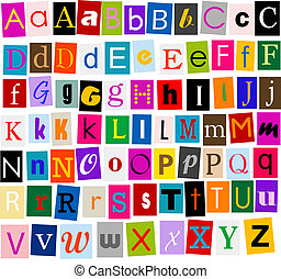 Alphabet - colorful alphabet