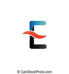 Alphabet e logo graphic template vector