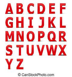 alphabet, ensemble, rouges