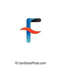 Alphabet f logo graphic template vector