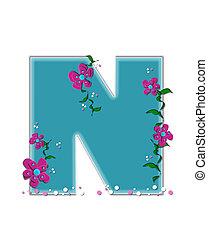 Alphabet Fairy Tale Garden N - The letter N, in the alphabet...