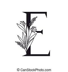 alphabet, feuilles, lettre