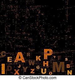 alphabet, fond