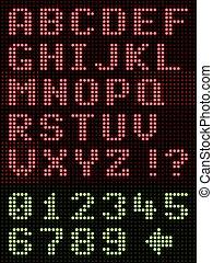 Alphabet Font LED Display - Alphanumeric LED Display On ...