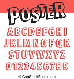 Alphabet font template