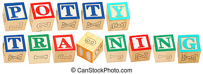 alphabet, formation, blocs, potty