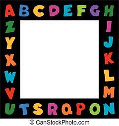 Alphabet Frame, Black Border