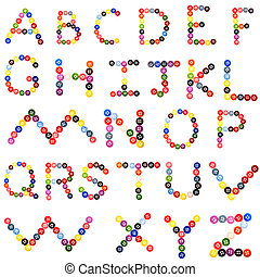 alphabet from button