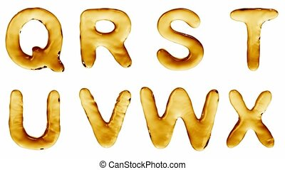Alphabet from oil isolated on a white background. The letter...