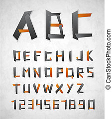 Alphabet from paper