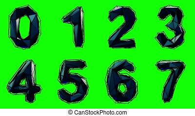 Alphabet from plastic isolated on green background. 4K -...