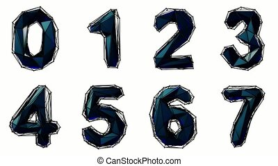 Alphabet from plastic isolated on white background. 4K -...