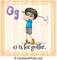 Alphabet G is for golfer