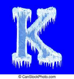 alphabet, glaçage