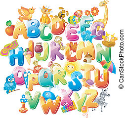 alphabet, gosses, images
