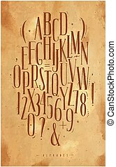 Alphabet gothic font craft