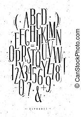 Alphabet gothic font