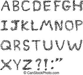 alphabet, gribouiller